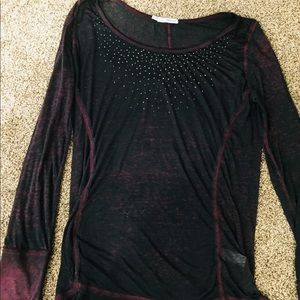 Maurices xl embellished long sleeve shirt